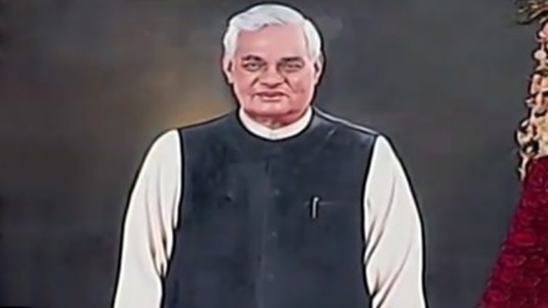 Atal Bihari Vajpayee Life-Size Portrait Unveiled by President Ram Nath Kovind in Central Hall of Parliament; See Picture