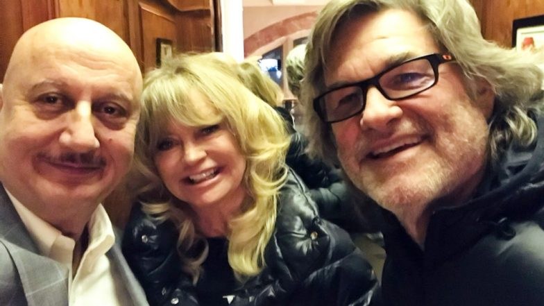 Anupam Kher Meets Hollywood Actors Kurt Russell and Goldie Hawn, Calls Them 'Hollywood's Golden Couple'
