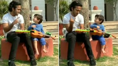 Taimur Ali Khan Playing A Guitar Is The Cutest Thing You Will See Today! (Watch Video)