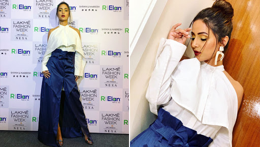 Hina Khan Continues to Ace Her Fashion Game, Makes Heads Turn at Lakme Fashion Week 2019 - View Pics