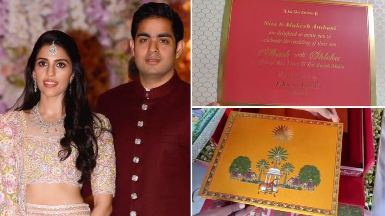 Akash Ambani and Shloka Mehta to Get Married on March 9, 2019 - See Wedding Invite Video