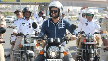 Why Is Maniesh Paul Riding With The Policemen at Bandra Reclamation? View Pics!