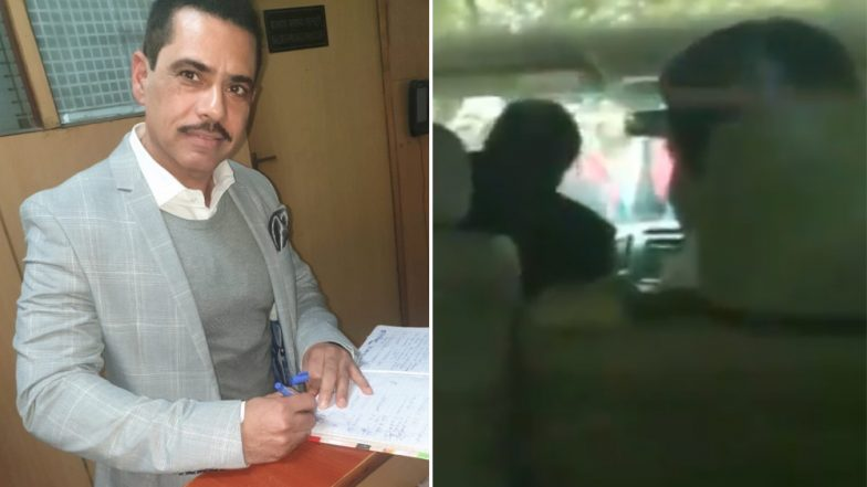 Priyanka Gandhi Drops Off Husband Robert Vadra At ED Office Before Heading to Congress HQ to Take Charge as Party General Secretary For UP East