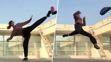 Disha Patani's Amazing 'Slap Spin Tornado' Kick Is All The Fitness Motivation You Need (Watch Video)
