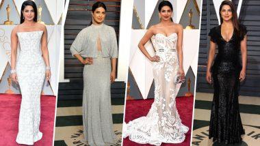 Oscars 2019: Lets Go Back in Time to Witness Our Desi Girl aka Priyanka Chopra's Wardrobe for the Academy Awards