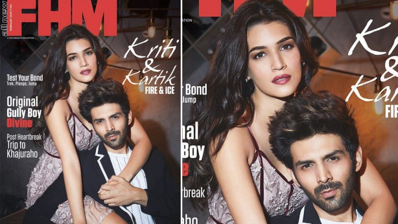 Kartik Aaryan and Kriti Sanon Are a Perfect Combo of Fire and Ice on FHM Mag Cover