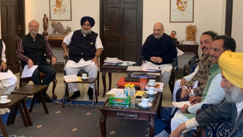 Lok Sabha Elections 2019: BJP and Shiromani Akali Dal to Contest Poll Together in Punjab, Says Amit Shah
