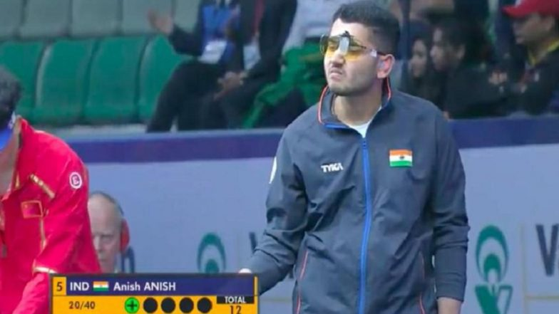 ISSF World Cup 2019: Indian Shooter Anish Bhanwala Finishes 5th in Rapid Fire Pistol Category