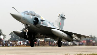 IAF Jaguar Makes Emergency Landing Due to 'Bird Hit' Leading to Engine Failure in Ambala (Watch Video)