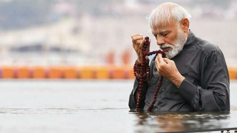 Prime Minister Narendra Modi Takes Holy Dip At Kumbh Mela 2019, Prays For 'Well Being of 130 Crore'; Watch Video