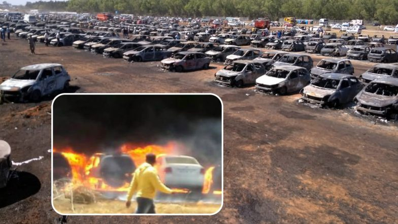 Aero India Show 2019: Fire Breaks Out in Parking Lot of Bengaluru's Yelahanka Air Force Station, Over 300 Vehicles Gutted