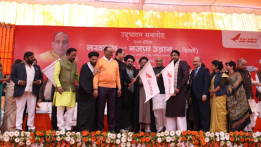 Air India Launches Twice-a-Week Flights From Lucknow to Iraq's Najaf, Rajnath Singh Flags Off Inaugural Trip