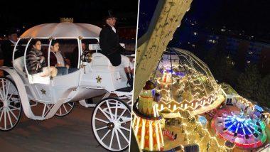 Inside Pics From Akash Ambani-Shloka Mehta's Pre-Wedding: Couple Arrive in a White Carriage for the Winter Wonderland Themed Celebration