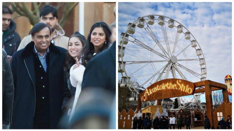 Akash Ambani-Shloka Mehta Pre-Wedding: First Pics From the Starry Bash in Switzerland Has Ferris-Wheel, Fireworks and Fun! (View Pics and Video)