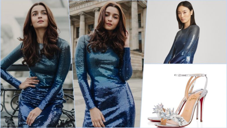 Alia Bhatt Wears $6300 Ralph Lauren Sequined Dress and Louboutin Okydok Worth $2095 for Gully Boy Movie Promotions in Berlin (See Pics)
