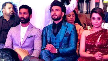When Gully Boy Ranveer Singh Was All Praises for Trisha Krishnan and Dhanush at AsiaVision Awards 2019 (Watch Video)