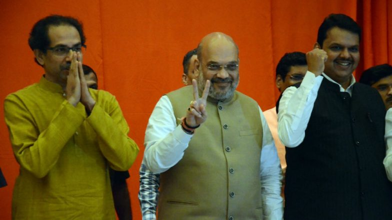 Lok Sabha Elections 2019: BJP to Contest 25 Seats, Shiv Sena 23 in Alliance in Maharashtra