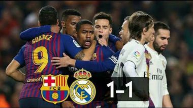 Copa del Rey: Barcelona Draw 1-1 with Real Madrid in 1st Leg of Copa Semi-Final