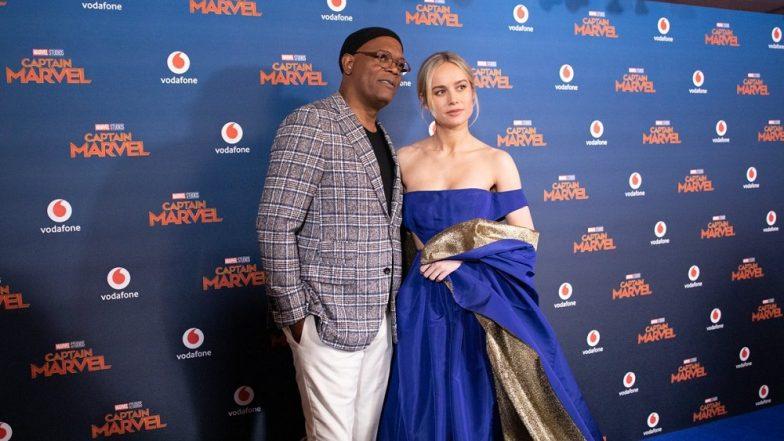 Captain Marvel UK Premiere: Brie Larson And Samuel L Jackson Ditched Their Superhero Suits For Stylish Ensembles And Rocked The 'Blue' Carpet! (View Pics)