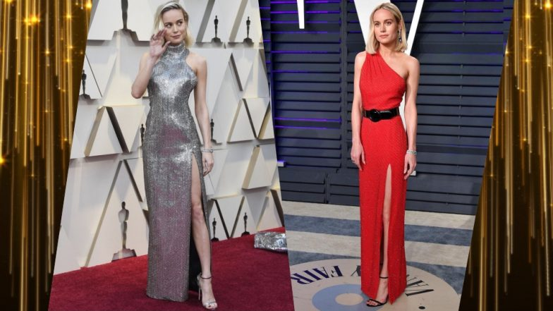 Captain Marvel Star Brie Larson at Oscars 2019: Sexy Silver or Red Hot, Pick Your Favourite Celine Gown Worn by Academy Award-Winning Actress (See Pics)