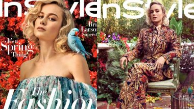 Brie Larson In Floral Ensembles On The Cover Of Instyle Magazine Is Giving Us All Kinds Of Spring Vibe - View Pics!