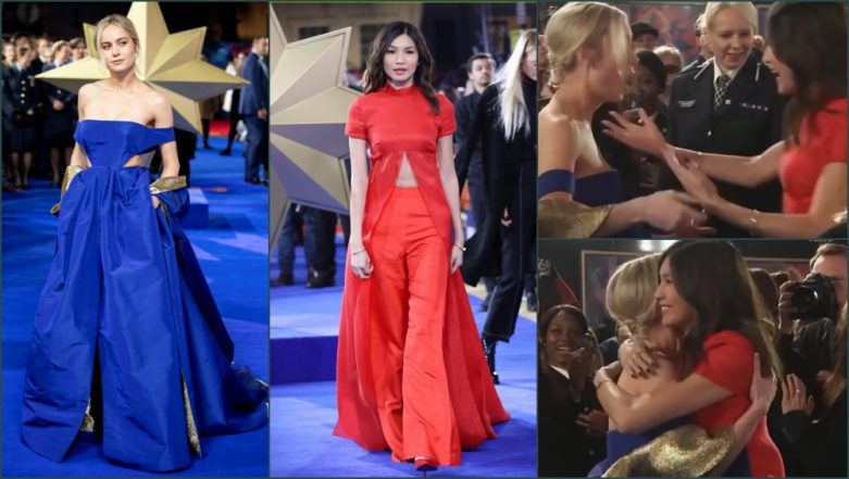 'Captain Marvel' Brie Larson and Gemma Chan Can't Stop Praising Each Other's Valentino Gown and Brandon Maxwell Cape (Watch Video)