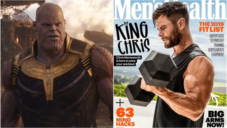 Thanos Better Watch Out for Thor's 'Big Arms'! Brawny Chris Hemsworth on Not 1 but 4 Men's Health Magazine Covers