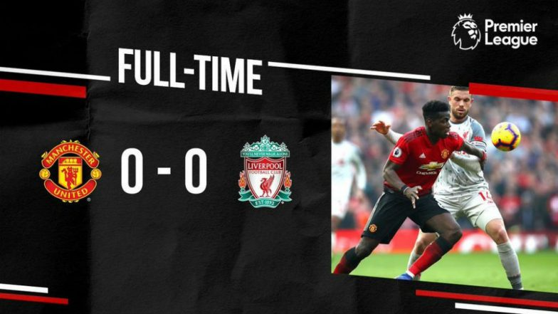 English Premier League 2018-19: Blow to Liverpool's EPL Hopes with 0-0 Tie vs Manchester United
