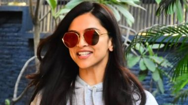 Deepika Padukone Looks Beautiful as She Flashes Her Dimpled Smile But it is Her Tinted Glasses We're Tripping Over! (Watch Video)