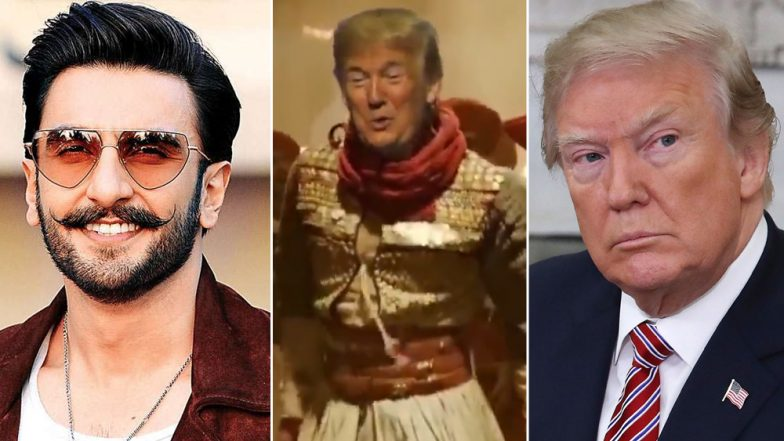 Donald Trump Performs Malhari! US President Replaces Ranveer Singh in Bajirao Mastani Song in This Viral Meme (Watch Video)