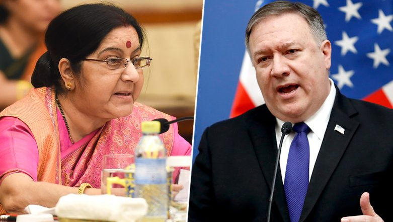 US Secretary of State Mike Pompeo Apprised of IAF Raid in Pakistan's Balakot: Sushma Swaraj at All Party Meeting