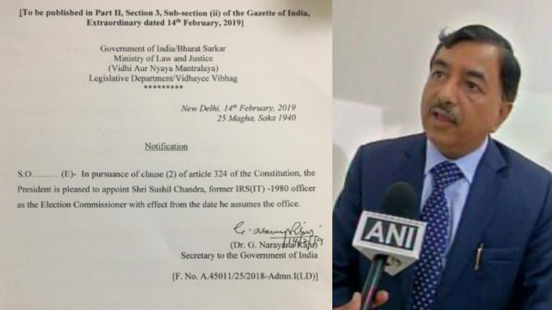 Sushil Chandra Appointed as Election Commissioner Ahead of Lok Sabha Elections 2019