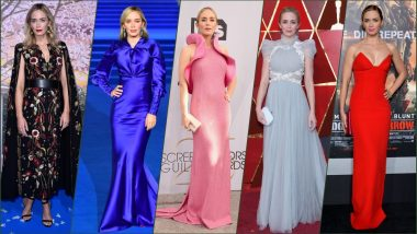 Emily Blunt Birthday Special: Most Stylish Red Carpet Outfits of 'A Quiet Place 2' Actress As She Turns 36 (See Photos)