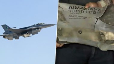 F-16 Was Used By Pakistan, IAF Displays AMRAAM Missile Part As Proof; All About The Evidence Presented by India (See Photos And Video)