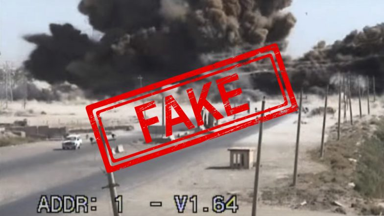 Fake Alert! This Old Video of Bomb Blast at Highway in Baghdad Going Viral as Pulwama Terror Attack on CRPF Jawans