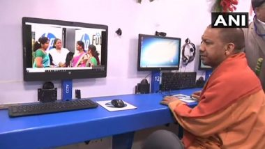 Uttar Pradesh CM Yogi Adityanath Inaugurates Computerized Mobile Bus Classroom 'HP World on Wheels'