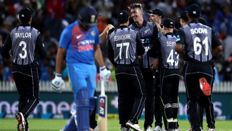 India vs New Zealand 3rd T20I 2019: Kiwis Beat Men in Blue to Clinch 3-Match Series 2–1