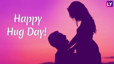 Happy Hug Day 2019 Wishes: WhatsApp Stickers, SMS, GIF Image Messages, Romantic Greetings to Share This Valentine Week