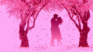 Kiss Day 2019 Images & HD Wallpapers for Free Download Online: Wish Happy Kiss Day With Romantic GIF Greetings & WhatsApp Sticker Messages During Valentine Week