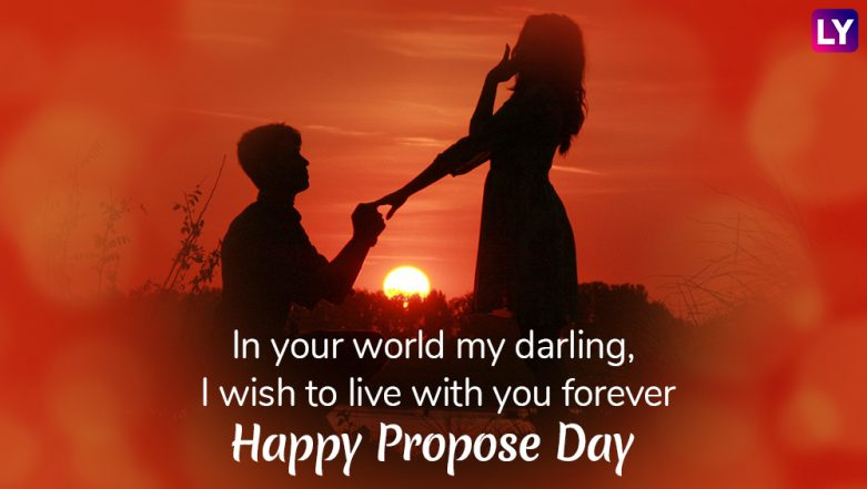 Happy Propose Day 2019 and Valentine's Day in Advance Messages: Best WhatsApp Stickers, GIF Image Greetings, Quotes to Wish During Valentine Week