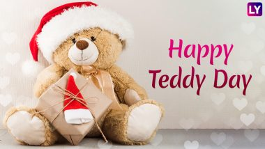 Happy Teddy Day 2019 Wishes: SMS, GIF Images, WhatsApp Stickers and Messages to Send Greetings on This Valentine Week