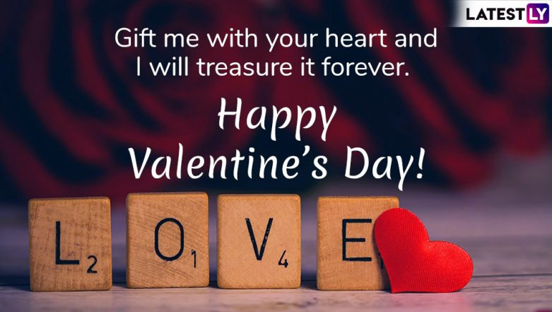 Happy Valentine's Day 2019 Messages & Love Quotes: Romantic WhatsApp Stickers, GIF Image Wishes, SMS, Instagram Posts to Send Happy Valentine's Day Greetings!