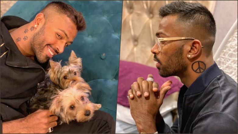 Hardik Pandya Gets New Tattoos! Indian Cricketer Inks Cute Paw Prints and Peace Sign Tattoos on Neck (See Pics)