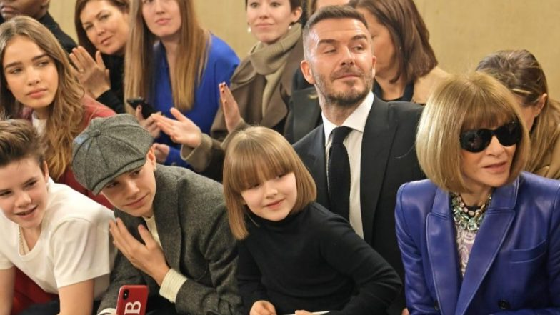 ddb71657fab5 Victoria And David Beckham's Daughter Harper Is Anna Wintour's Mini-Me  Version And This Picture