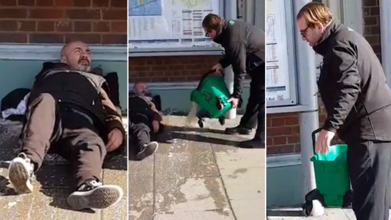 Railway Staff in Southwest London Pour Dirty Water on Homeless Man As He Refuses to Move, Suspended After Video Goes Viral