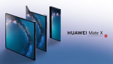 MWC 2019: Huawei Mate X is World's Fastest 5G Foldable Phone; Launched in Barcelona at Euro 2299