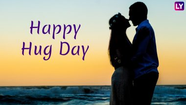 Hug Day 2019 Images & HD Wallpapers for Free Download Online: Wish Happy Hug Day With Romantic GIF Greetings & WhatsApp Sticker Messages During Valentine Week