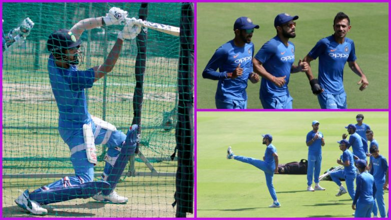 Virat Kohli and Co Practice Hard Ahead of IND vs AUS 2nd T20I in Bengaluru, See Photos