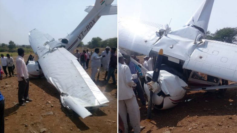 Plane Crash In Pune: Carver Aviation Trainee Aircraft Crashes, Injured Pilot Rushed to Hospital