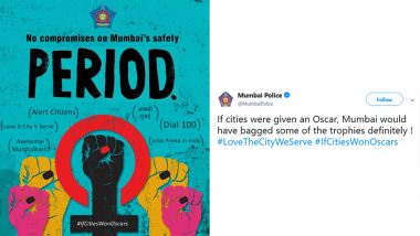 Oscars 2019: Mumbai Police References 'Period. End of Sentence' in New Tweet, Says 'No Compromises on City's Safety'